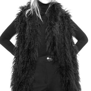 NWT Zara faux fur vest XS
